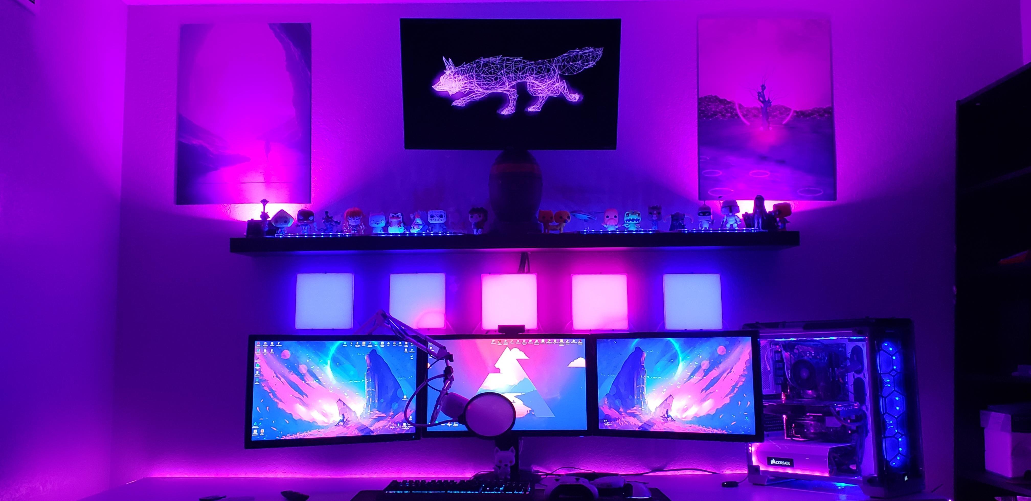 Ͻï½…sthetic Game Room Design Gaming Setup Gamer Room