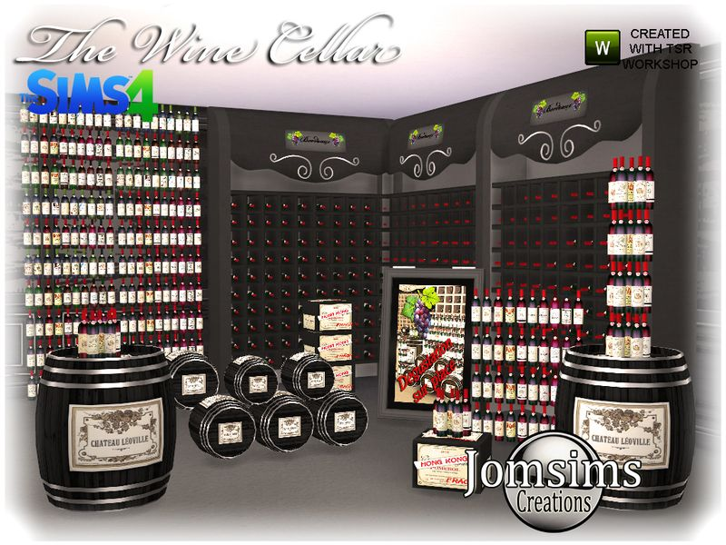 As promised, here is the wine cellar, for, Sims 4. Found in