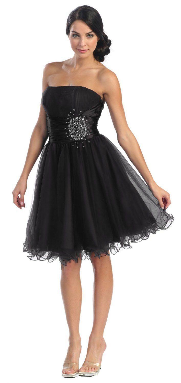 Formal dresses for teens | prom strapless junior plus graduation ...