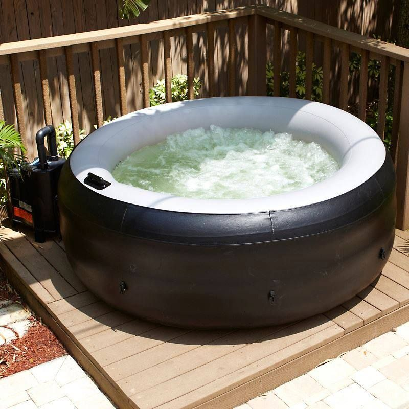 EZ Spa Inflatable 4 Person Spa. We need one of these for when we are ...