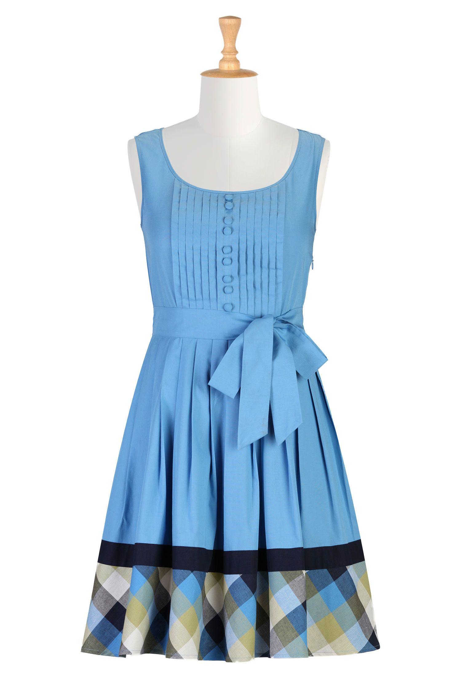 Plaid trim poplin dress | Modest outfits, Beautiful clothes and Plaid
