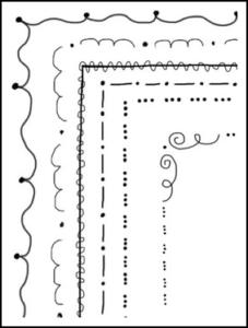 """FREE LESSON – """"Mrs. D's Doodles 2 – 11 Doodle Frames"""