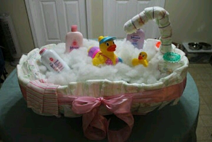 Cute Baby Shower Gift Baby Tub Filled With Bath Time Essentials
