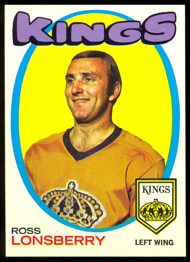 1971 72 topps hockey 121 ross lonsberry nm l a kings free