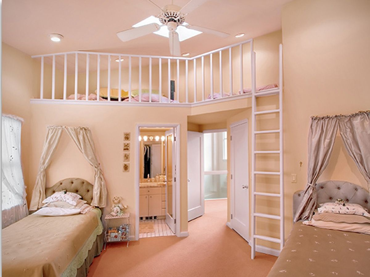 Home Decor Bedroom Enchanting Split Levels Room With Stairs Over Single  Upholstery Bed And Small Closet Room Ideas In Twin Teenage Girl Bedroom  Ideas Fancy ...