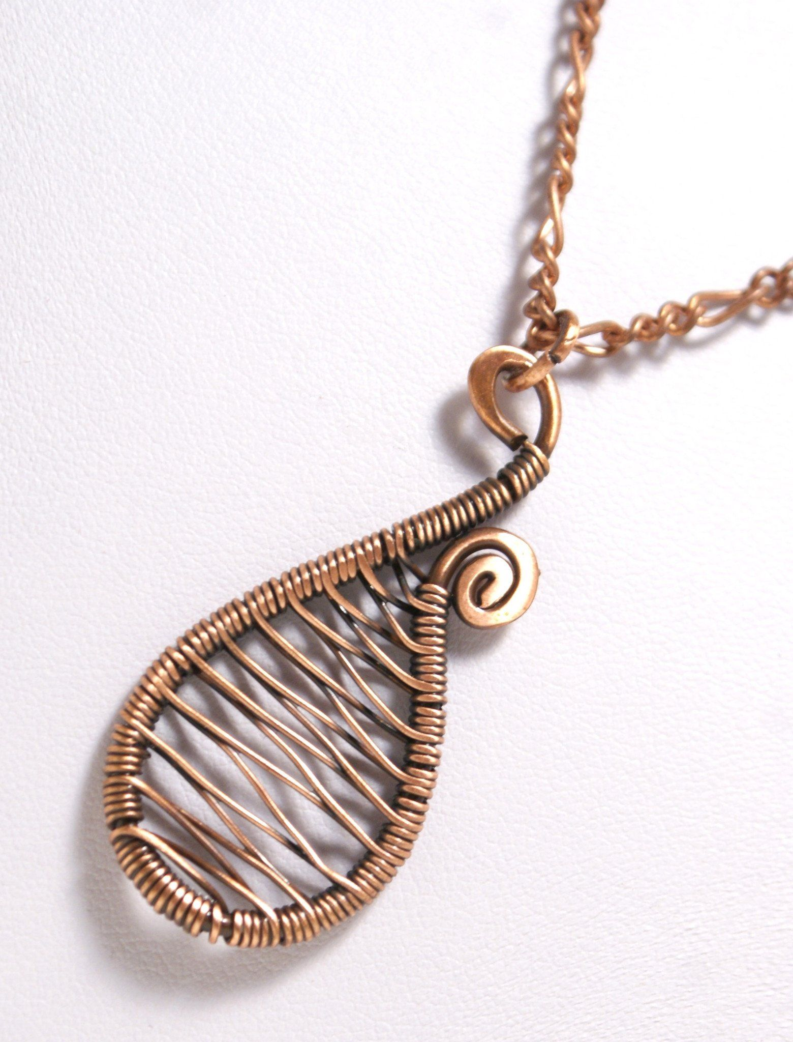 Handmade Copper Pendant Wire Wrapped Copper Pendant Necklace