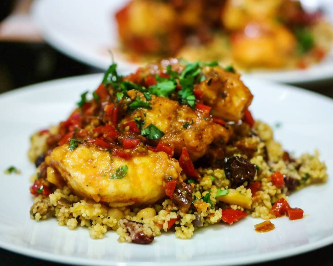 I made pan fried #monkfish w/ #chorizo #peppers and sweet cherry tomatoes served on a bed of moroccan #couscous last night. Pretty pleased with it too  Got to test out more #fish  meat combo dishes! Trying out a new dish at home after a hectic day in the office may not be everyone's thing but I find it gratifying . .  #homecooking #recipe #bestfoodworld#buzzfeast #feedfeed #forkyeah #EEEEEATS #dailyfoodfeed #foodie #f52grams #foodiegram #fdbloggers #lovefood #forkfeed #instafood…