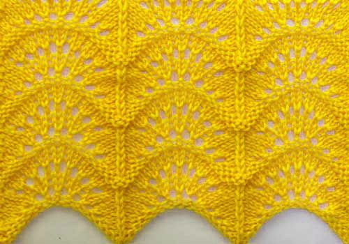 Wavy Knitting Stitch Pattern This Might Be A Good Alternative To A