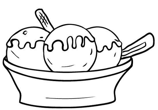 Ice Cream Bowl Coloring Page Ice Cream Coloring Pages Coloring Pages Food Coloring Pages