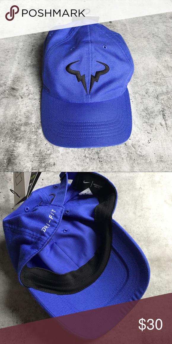 6d7e68c3 Nike Rafa Nadal Blue Twill H86 Aerobill Hat •This twill Rafael Nadal hat is  based