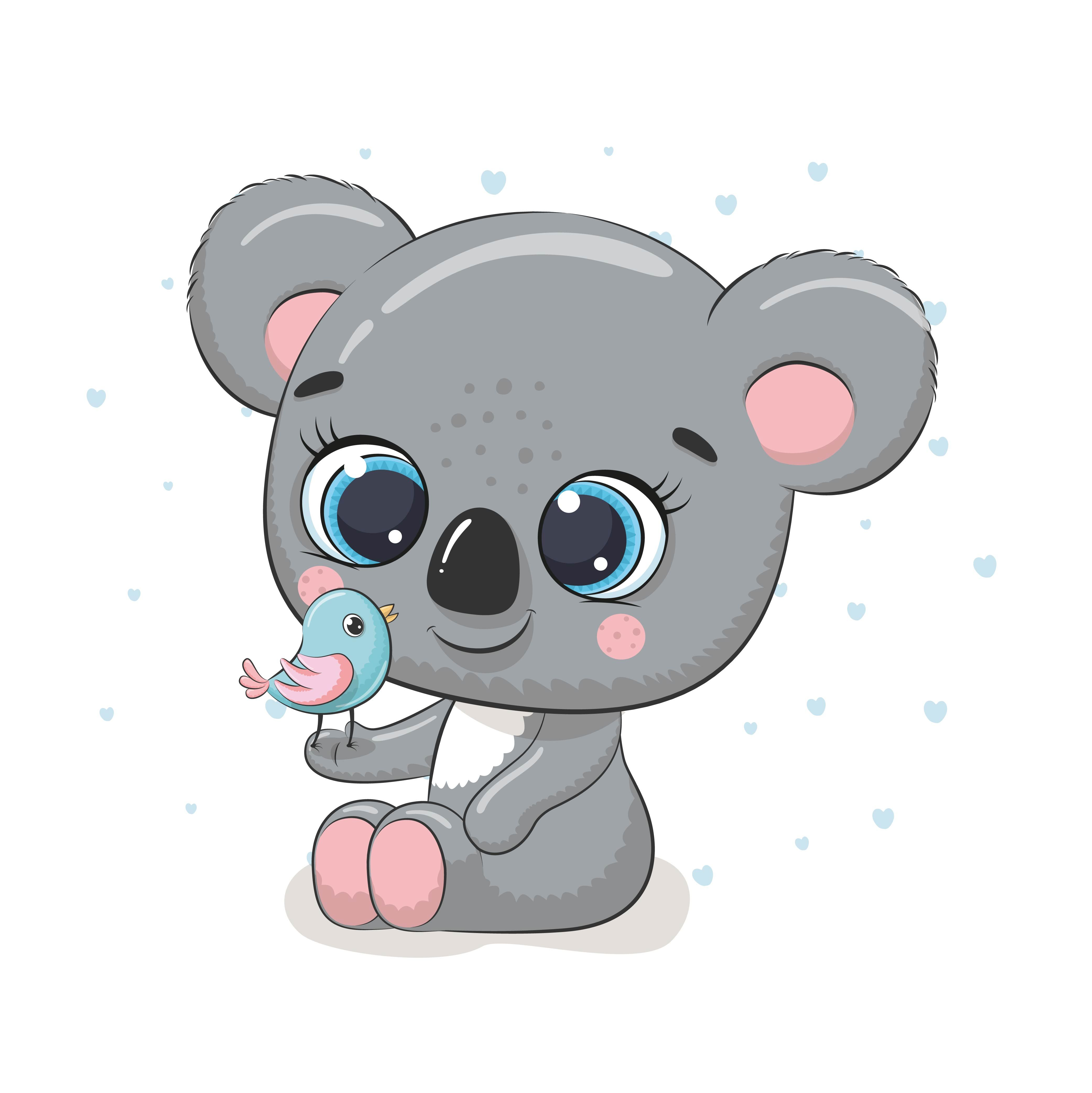 Cute Baby Animals Png Jpg Png 300 Dpi 956410 Illustrations Design Bundles Baby Koala Animal Clipart Clip Art