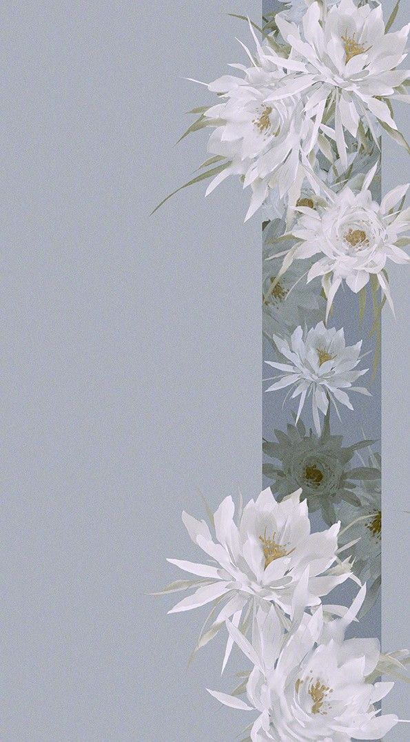 Wallpaper Iphonewallpaper Chinese Beautiful Aesthetic Gray White Flowers Cute Background Kertas Dinding Lukisan Bunga Lukisan Jepang