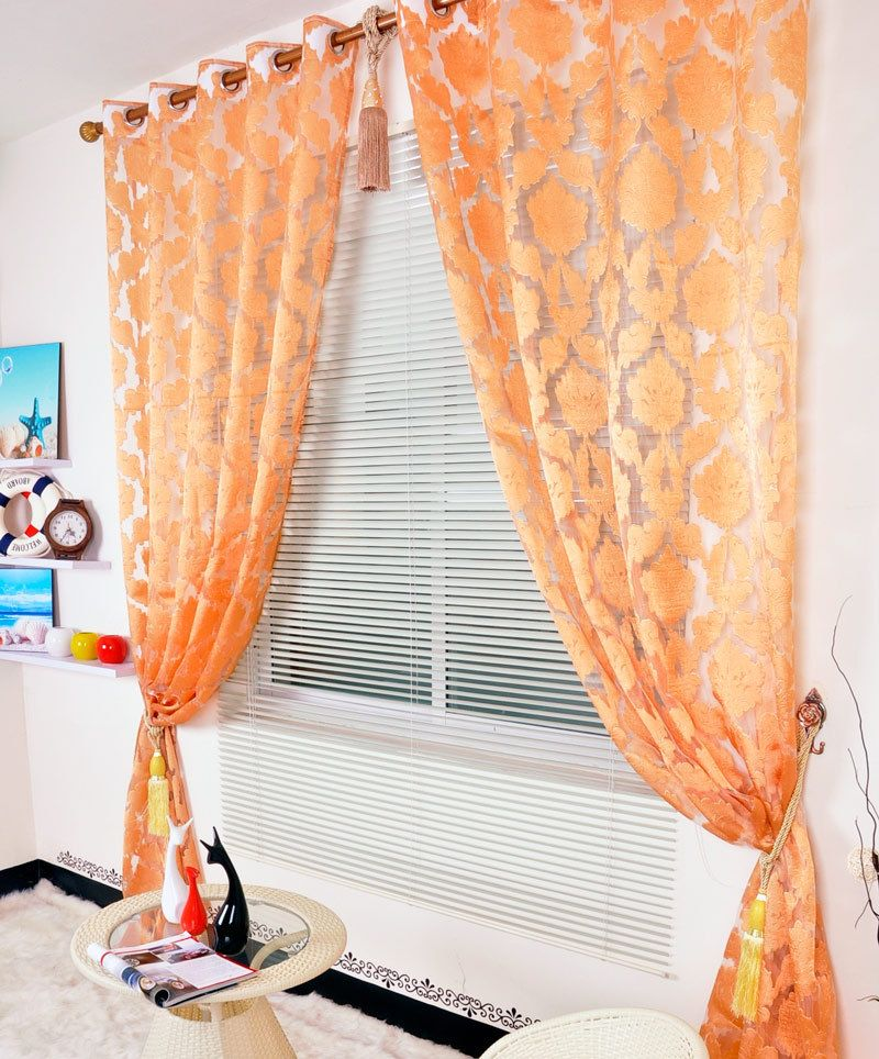 Charming Sheer Orange Curtains   Google Search