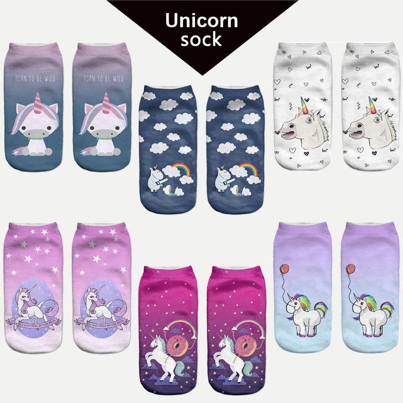 Women Harajuku Pikachu 3D Cute Unicorn Print Socks Low Cut Ankle Comfortable Hosiery Meias Calcetiness Calzini Chaussette Femme  #great #lovely #fantastic #darrens1960 #amazing #jewelry #lol #like