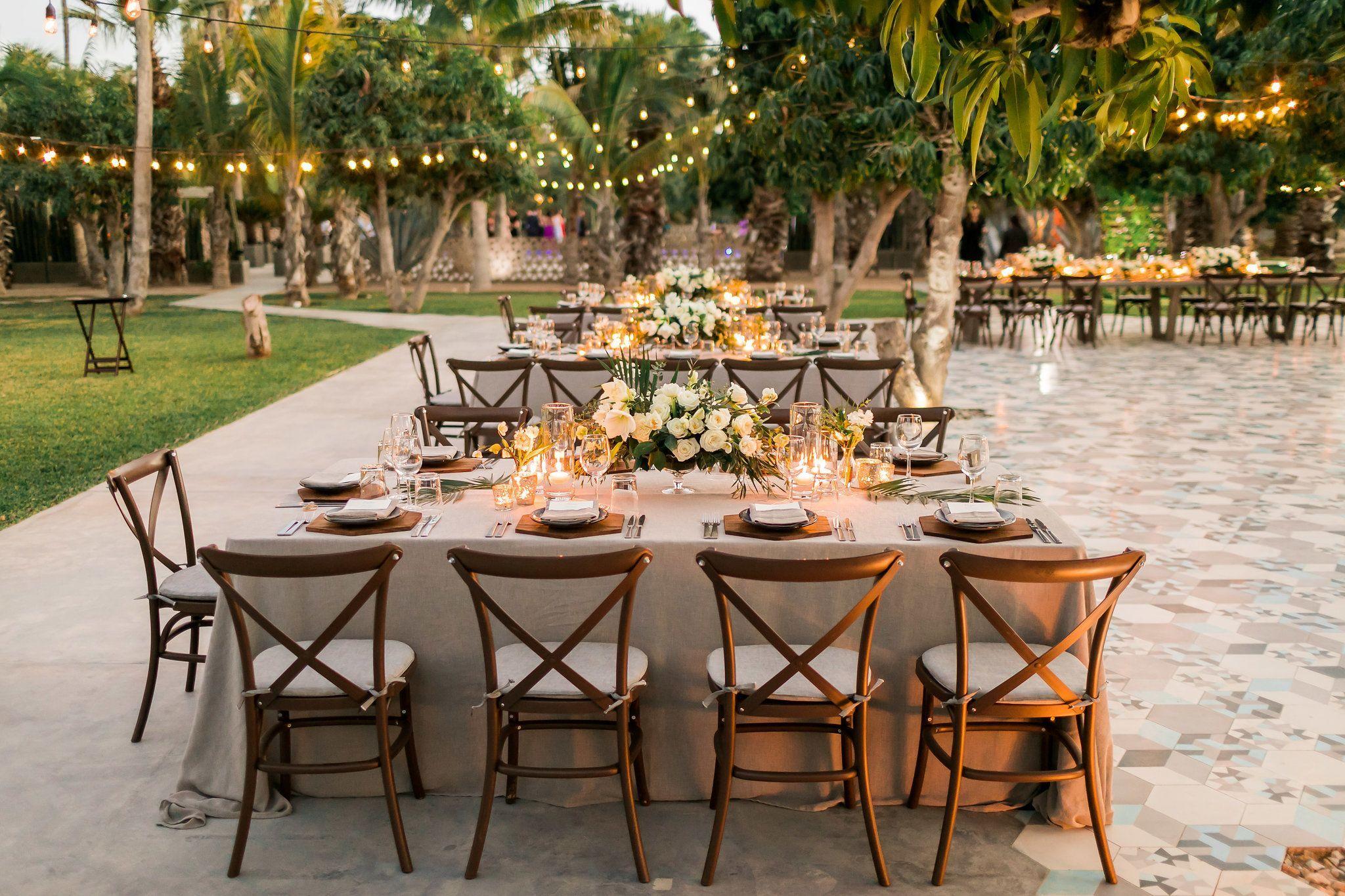 Wedding decor under the mango trees at Acre Baja! Photo by Ana ...