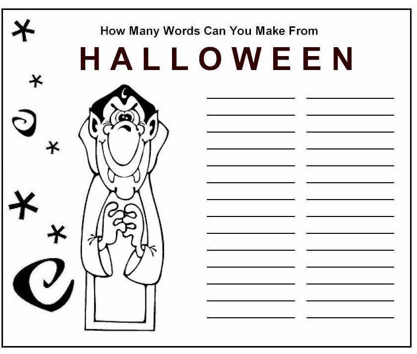 Halloween Word Game | Halloween words, Word games and Halloween ...