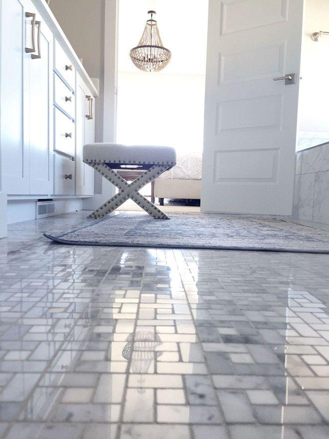 Tile: Anatolia Tile Carrara Pinwheel Basketweave Mosaic Marble Tile ...