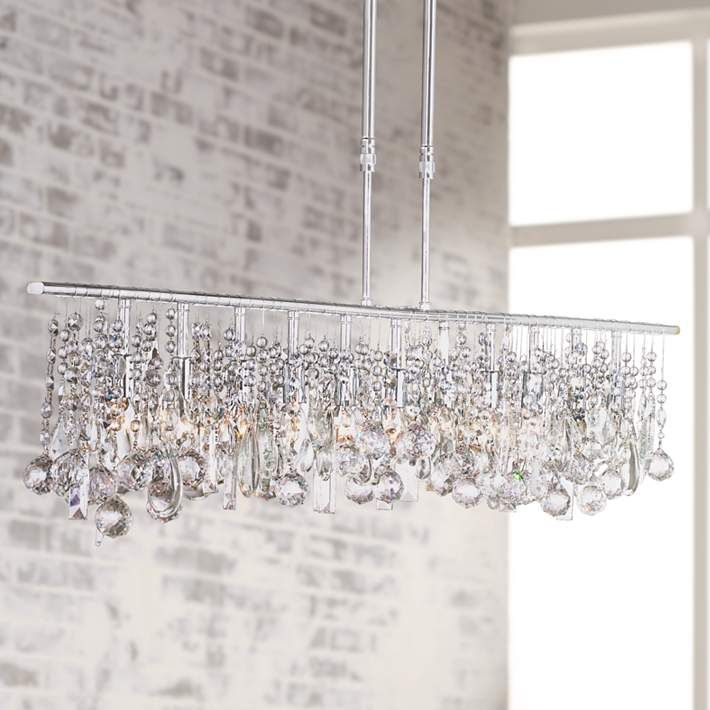 "Luminous Collection 48"" Wide Crystal Chandelier  Chandeliers Impressive Kitchen Chandeliers Inspiration Design"