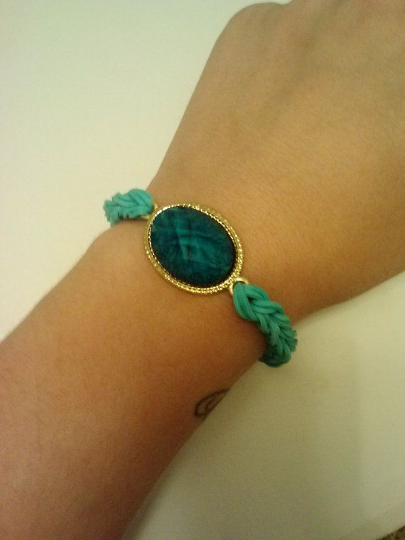 Check out this item in my Etsy shop https://www.etsy.com/listing/198146373/turquoise-rubber-band-bracelet-with
