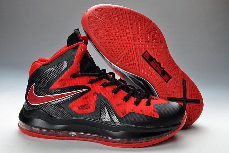 9e54bf9b34d7e Lebron 10 Shoes P.S Elite Red Black