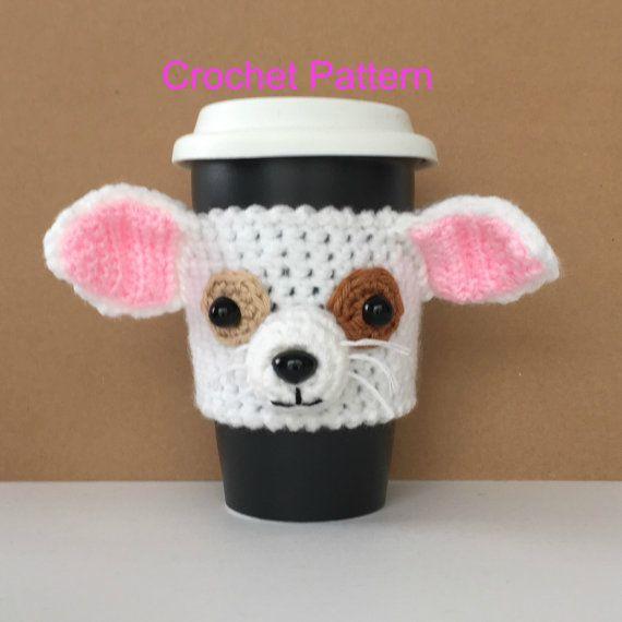 Crochet Funny Crochet Dog Mug Cozy Pattern Chihuahua Pattern