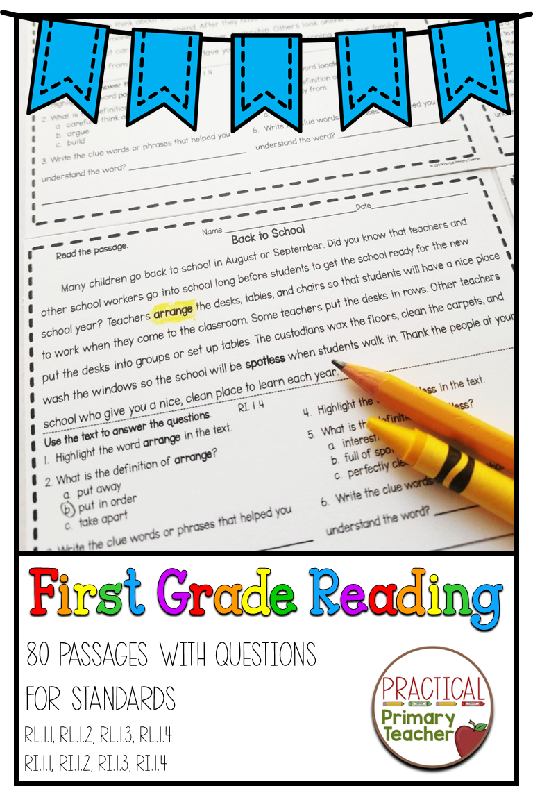 1st Grade Reading Passages And Questions First Grade Reading Reading Comprehension Passages Reading Passages [ 1152 x 768 Pixel ]