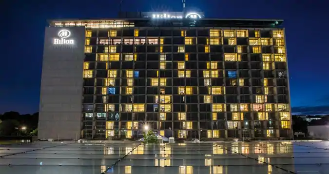 Hilton Munich Park Hilton Munich Park Munich Hotel Only Yards From The Peaceful Englischer Garten And 30 Minutes Dri Park Hotel Hotel Exterior Munich Hotels