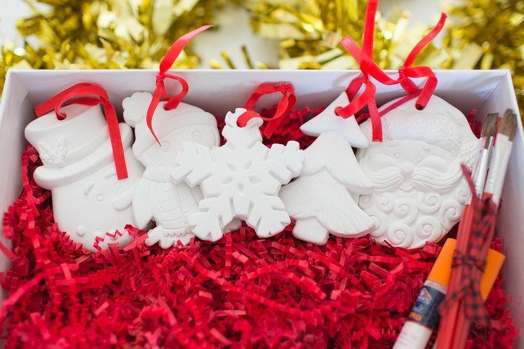 Kit Lavoretti Di Natale.Lavoretti Di Natale Facili Statuine Di Gesso Kit Per Dipingere Ornamenti Natalizi Idee Di Natale Artigianato Di Natale Fai Da Te