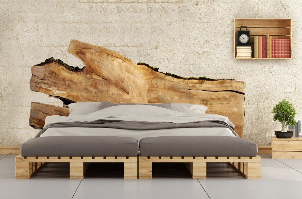 Live Edge Headboards Beautiful Large Wood Slabs Handcrafted Into Unique One Of A Kind Rustic Modern Bedroom Decor Live Edge Slabs Live Edge Headboard Modern Bedroom Decor Live Edge Bed