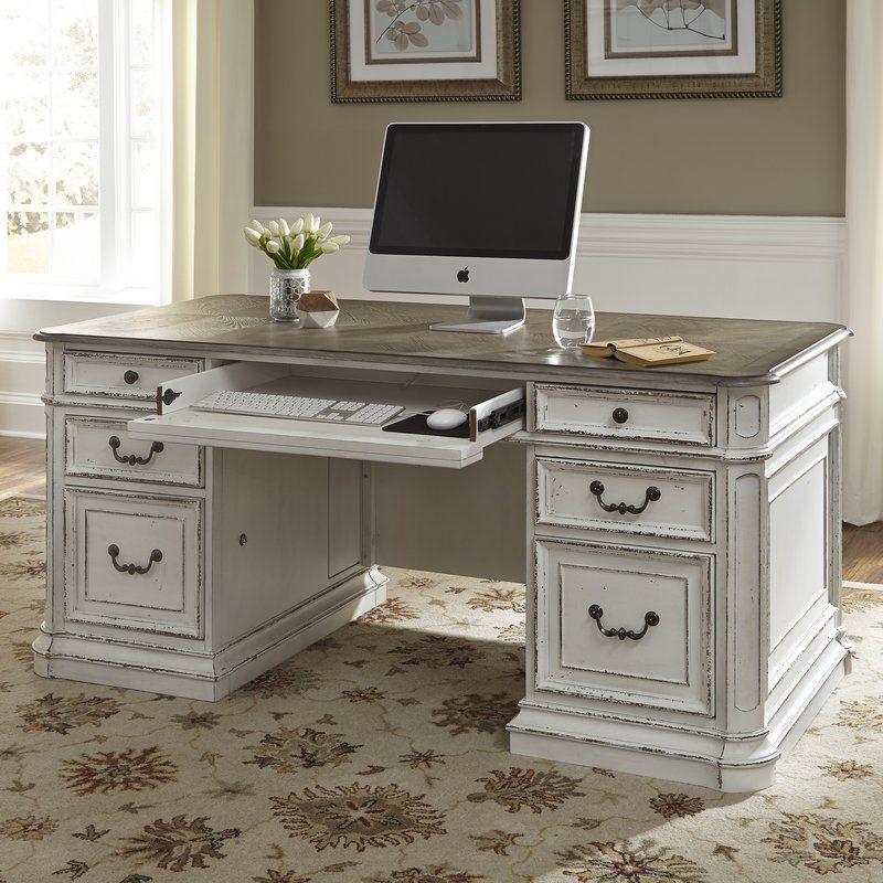 Audrey Executive Desk Antique White Desk Cheap Office Furniture Executive Desk