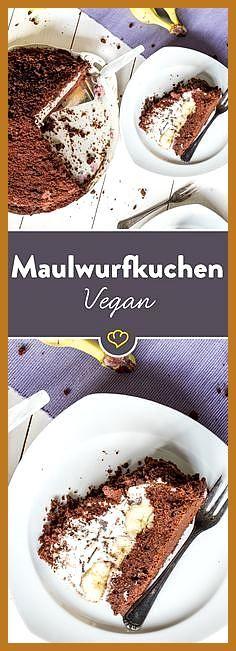 Die Modetorte mal ganz zahm: Veganer Maulwurfkuchen #die #Fitness food pictures #Fitness food vegeta...