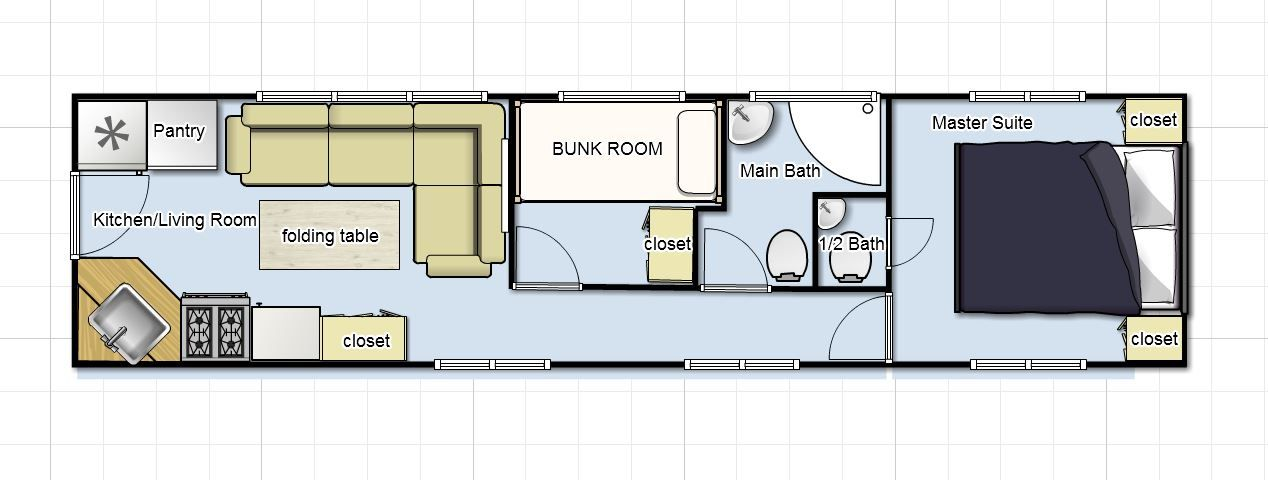 love this floor plan DIY Camper Pinterest Home Double