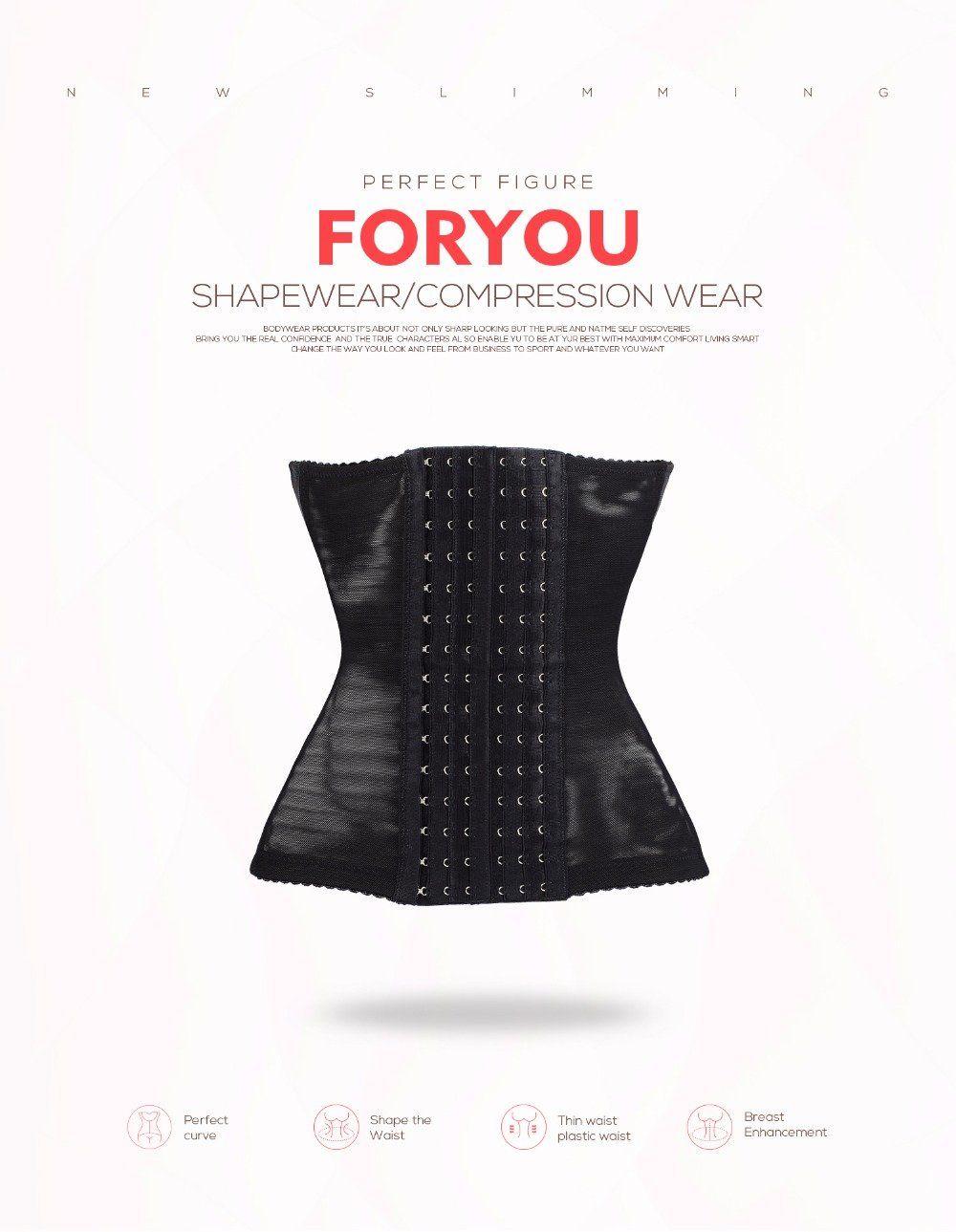 0c98e730c1 Women s Waist Trainer Corset Body Shaper Slimming Shapewear Bustier  Corselet Underwear
