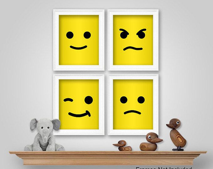 PRINTS or CANVAS or Printable Digital Download - Lego Nursery ...