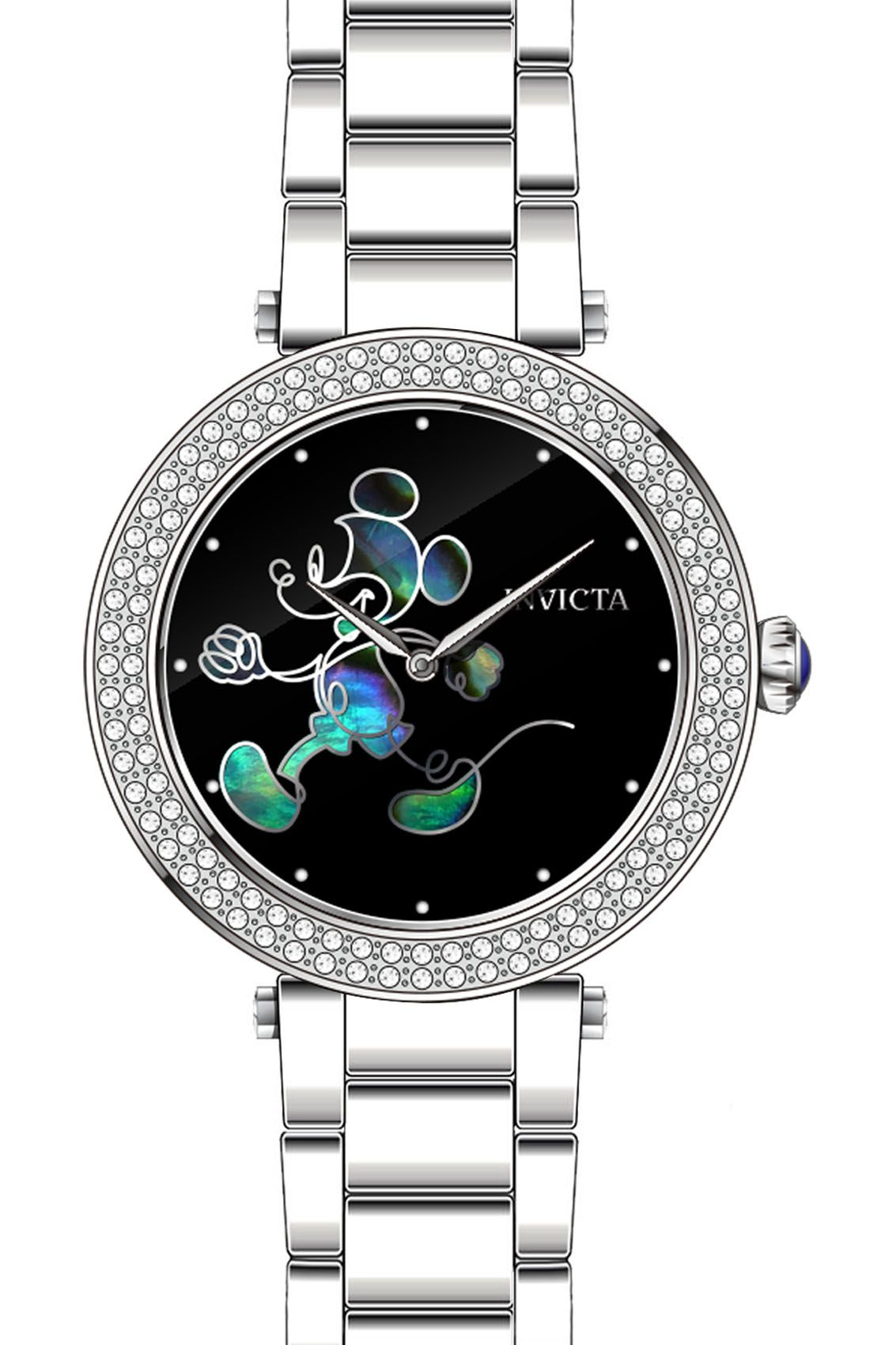 8af33824b86 Invicta Disney Limited Edition Mickey Mouse Women's Quartz 38mm Stainless  Steel Case Black Dial - Model 23780