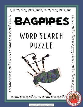 music lessons  |  Bagpipes Word Search Puzzle This Word Search Puzzle contains 30 bagpipe…  world music lessons   #musiceducation