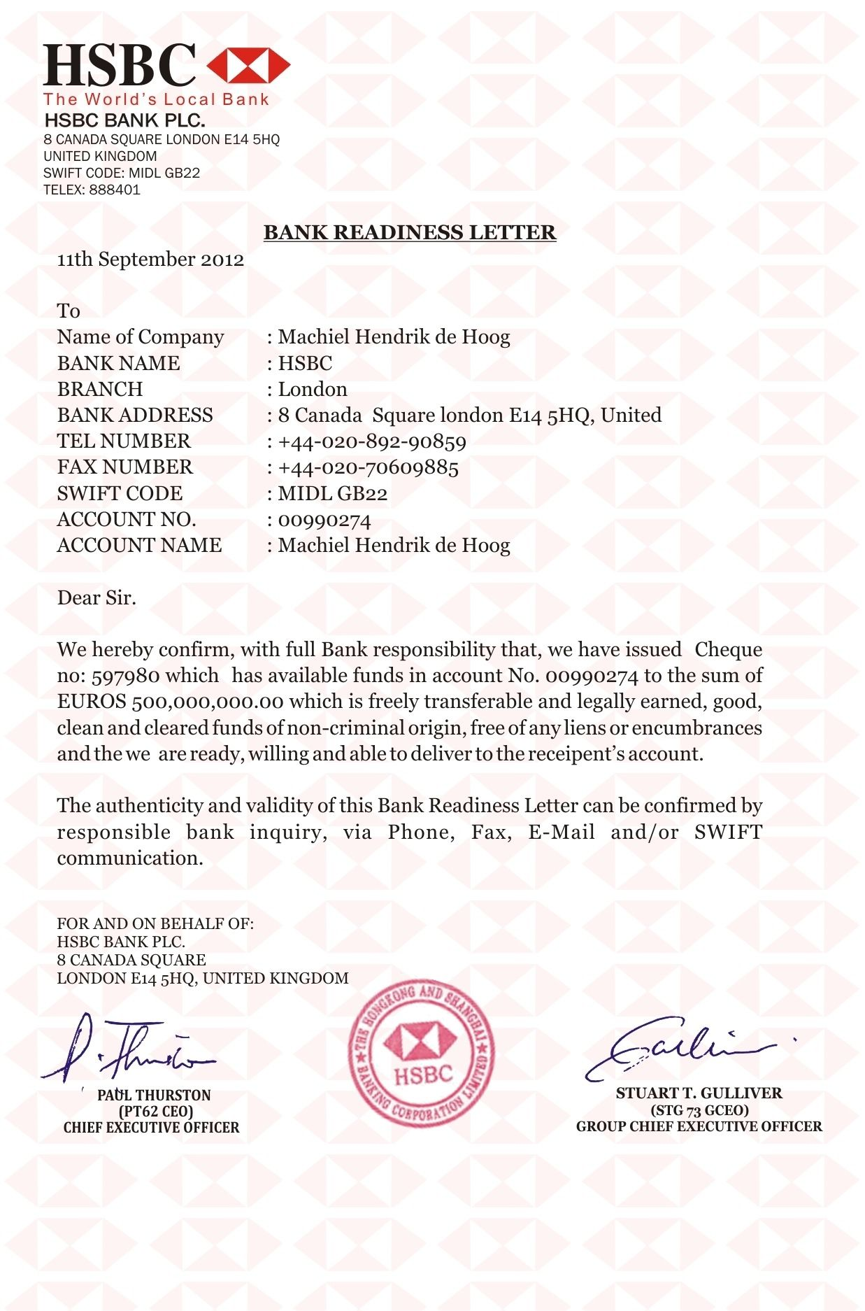 account close business hsbc cover templates letter bank | Hsbc in