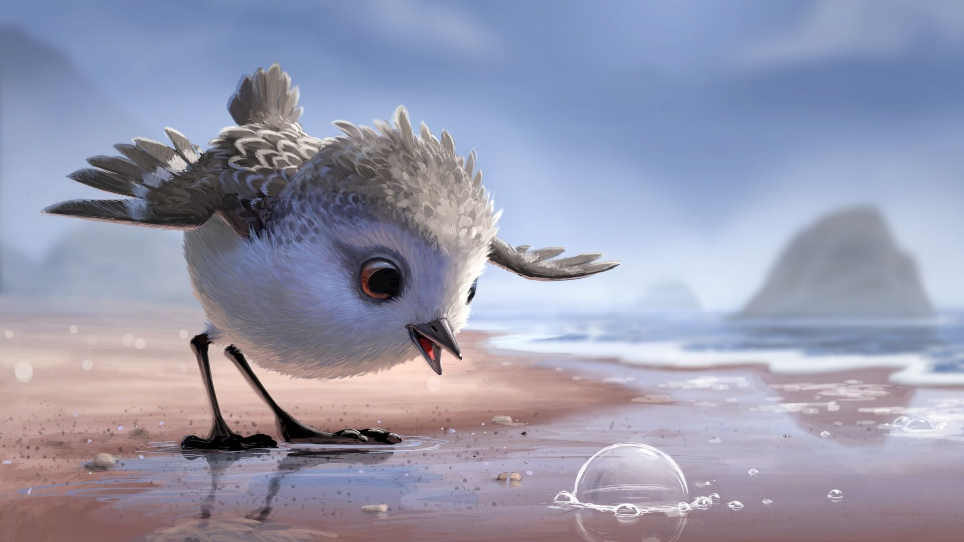 Pixar Movie Piper Art Hd Wallpaper 1920 X 1080 Need Iphone 6s Plus Wallpaper Background For Iphone6splus Follow Pixar Shorts Piper Pixar Pixar Movies