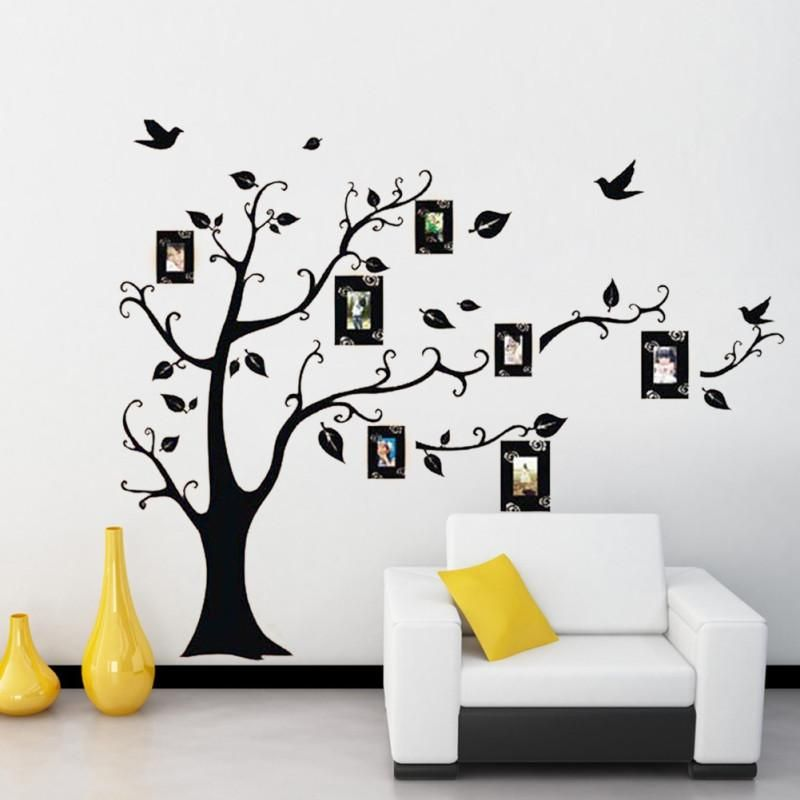 Family Photo Frame Black Tree Wall Sticker Wall Decal Removable Room ...