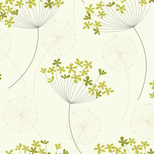 Details About Designer Feature Wallpaper Capri Floral Flower Teal Green Orange Cream Home Decor In 2019 Dandelion Wallpaper Olive Green Wallpaper Gr Green and white wallpaper for walls