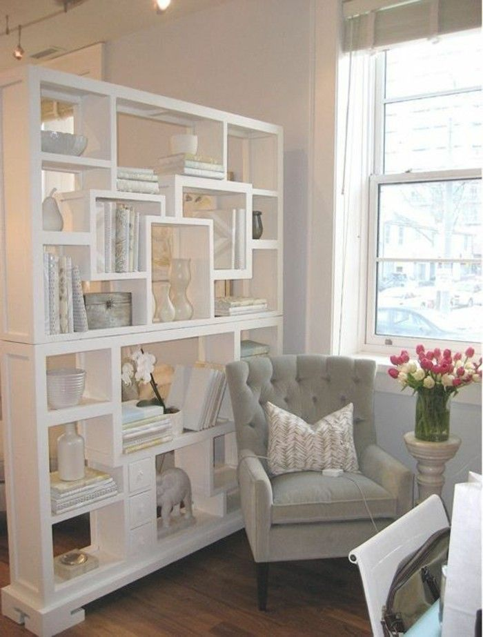 Shelf Space Trenner Room Dividers Shelf Shelf Space Trenner Shelves As A Partition Wall Tren Living Room Decorations Raumteiler Regal Kleines Wohnzimmer Einrichten Wohnzimmer Einrichten