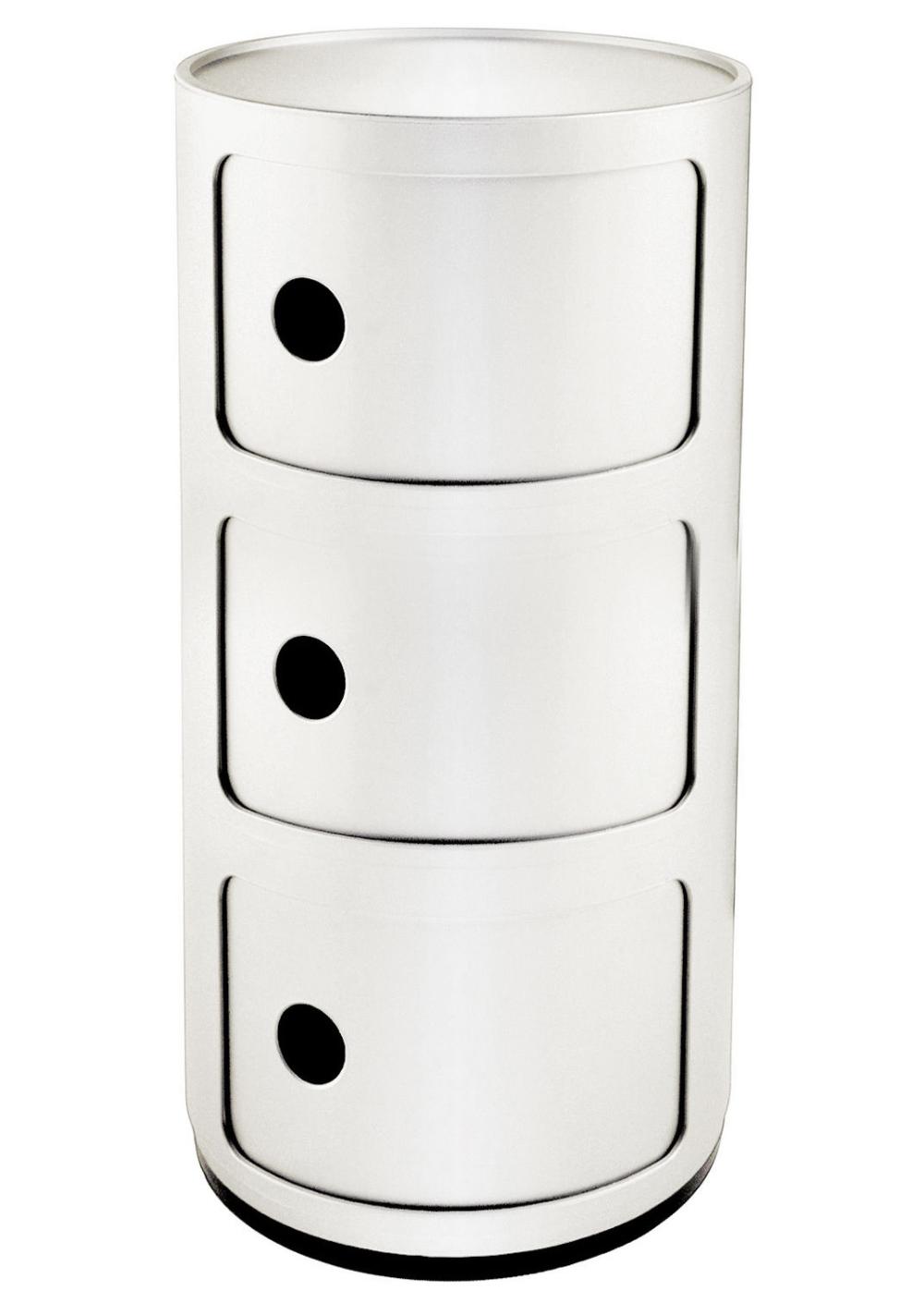 Rangement Componibili 3 Tiroirs H 58 Cm Blanc Kartell Made In Design Kartell Petit Rangement Tiroir