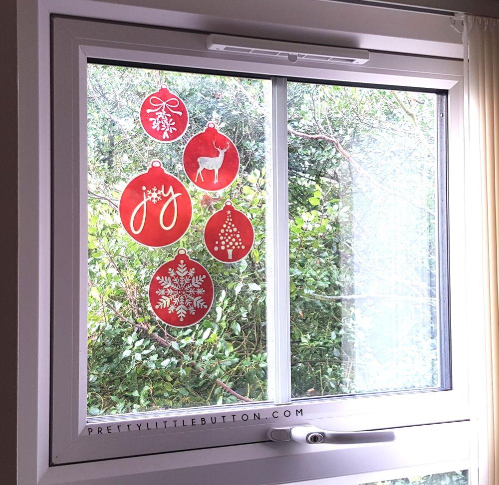 Silhouette Uk Christmas Bauble Window Decorations Christmas Baubles Decor Windows
