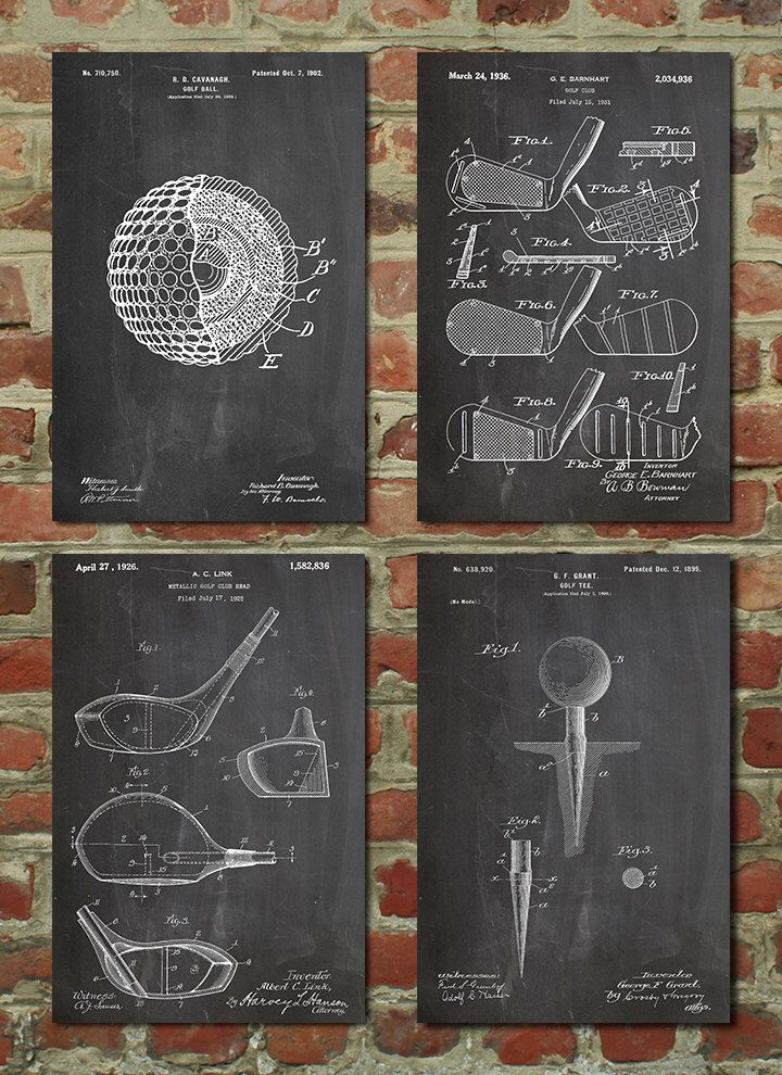 Blueprint Wall Art golf affiche, golf brevet, golf, golf decor, golf wall art, golf