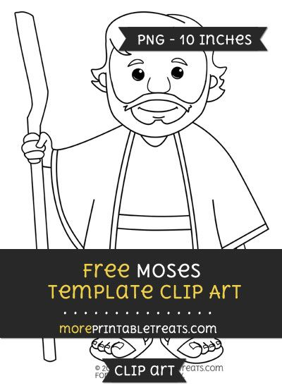 Free Moses Template - Clipart   Clipart Files   Pinterest