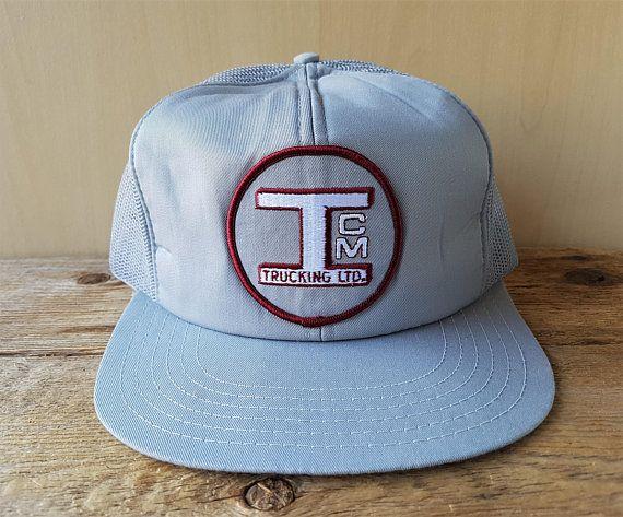 ICM TRUCKING Ltd. Vintage 80s Gray Mesh Trucker Snapback Hat Logistics  Carrier Truck Company Baseball Cap Victory Caps Canada Ballcap 7d0e3d74fd69