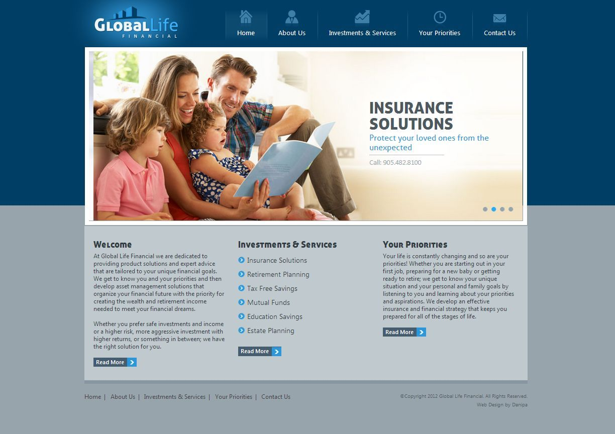 Home Page Design for a