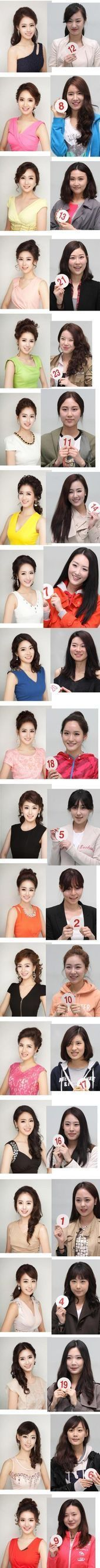 Miss Korean contestants before and after makeup -ok so is it just me (and im Asi