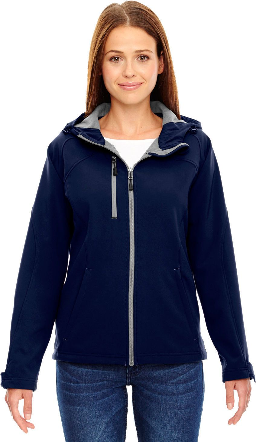North end womenus basic casual right chest pocket soft fleece jacket