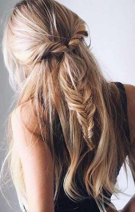 Fishtail Hairstyle Cool Twists Into Fishtail Braid …  Pinteres…
